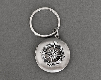 Compass Key Chain Locket