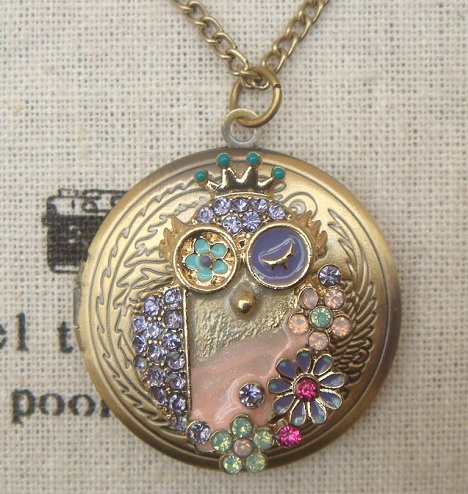 Contemporary Owl Locket