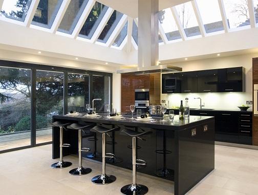 Contemporary pattern style designer kitchen