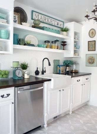 Cottage style kitchen cabinet
