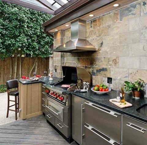 Courtyard Kitchen Cupboard Design