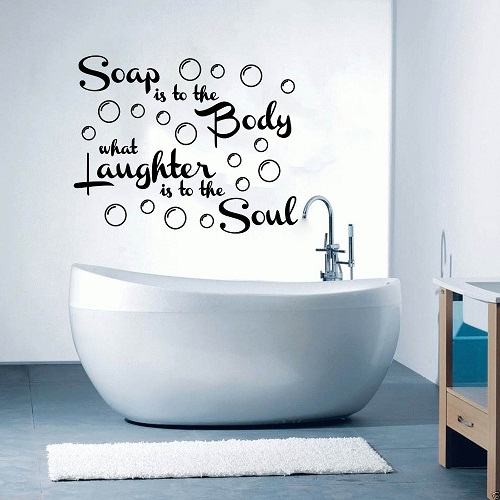 Creative fun style décor for Bathroom