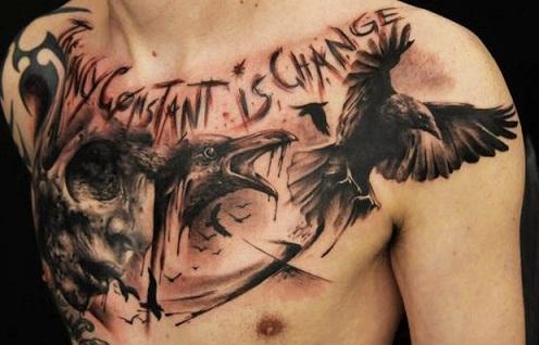 Creepy Crow Tattoo Designs