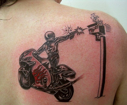 Daring Biker Tattoo Designs