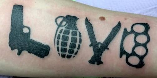 Deadly Gangster Tattoo Design