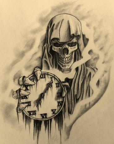 Death and time tattoo