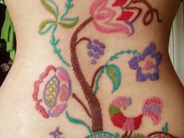 Designer Crochet Flower Tattoos