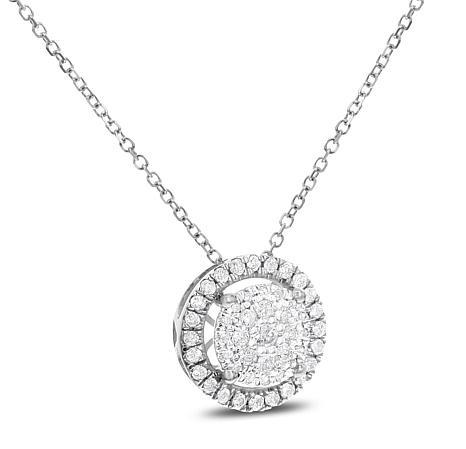 Diamond Style Rounded Locket Pendant