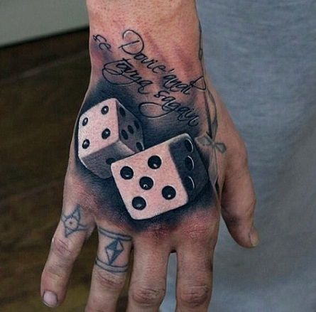Dice on the wrist