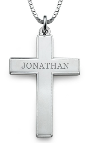 lockets christian lrg cross silver pendant uk