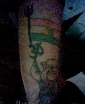Ethnic Indian Flag Tattoo Design
