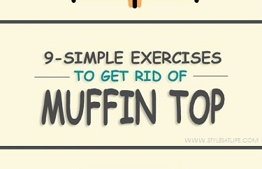 Exercises to reduce Muffin Top