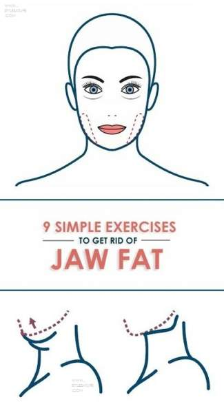 exercises to get rid of jaw fat