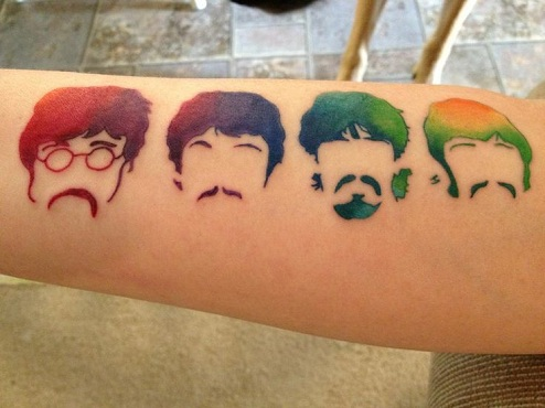 Eye Catchy Beatles Tattoo Design