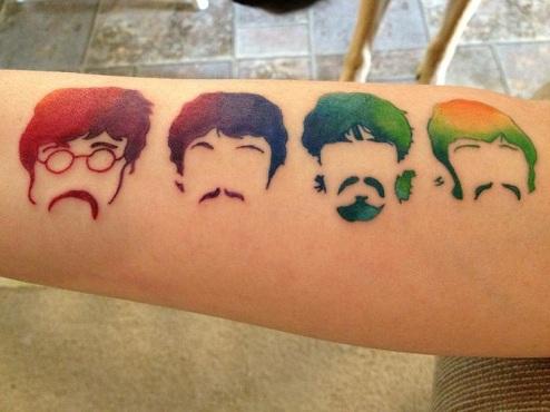 Eye Catchy Beatles Tattoo Design
