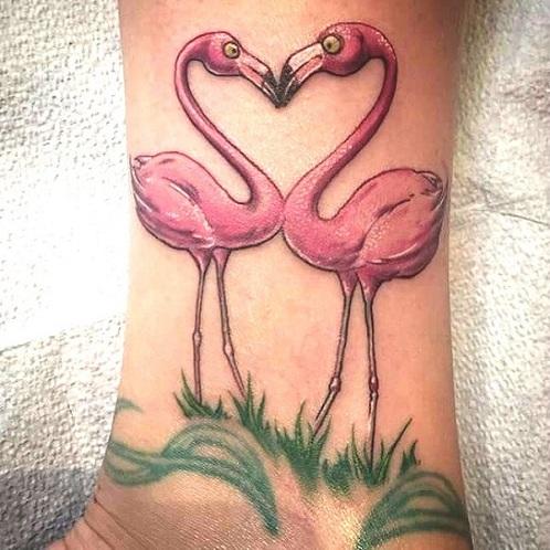 Very cute Flamingo Tattoos