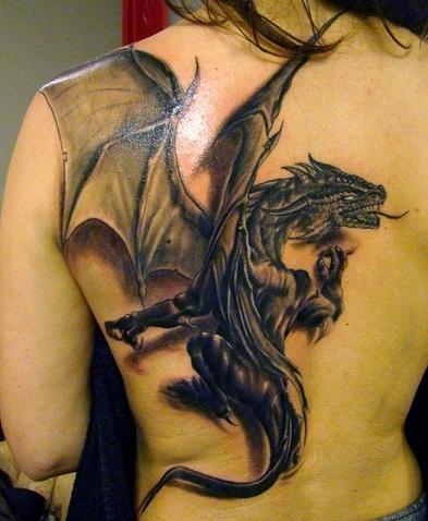 Fantasy Dragon Tattoo