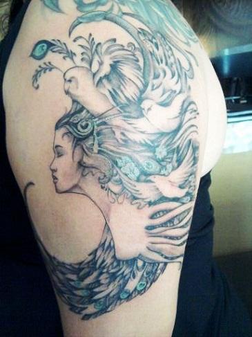 Fantasy Goddess Tattoo
