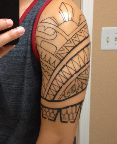 Filipino tribal armband tattoo