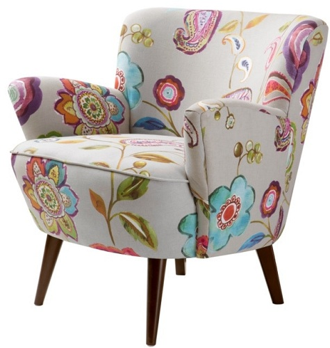 Floral Accent Reading Chair
