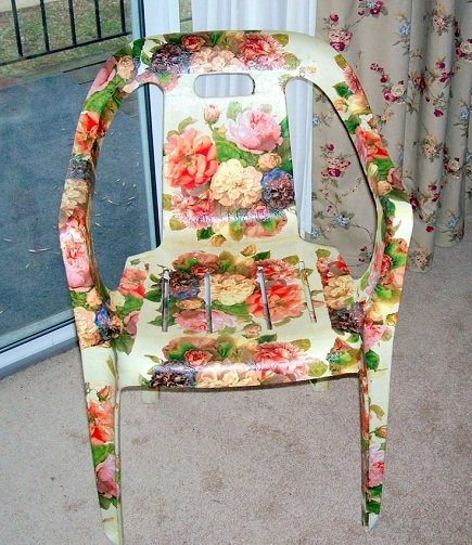 Floral Design Plastic Chair