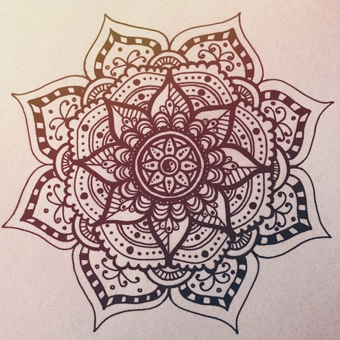 Mandala Flower Design Tattoo