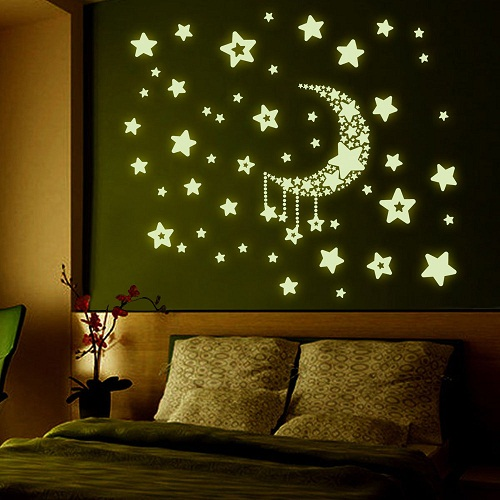 Fluorescent Star Stickers Designed wall