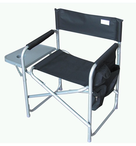 Folding Black Camping Chairs