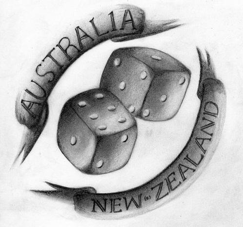 Friendly Neigh bours Australian Tattoo Design