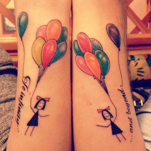 Friendship Balloon Tattoos Designs