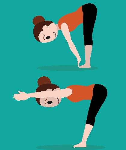 Front Bend Toe Touch – Standing Posture