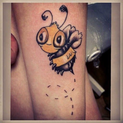 Funky Bee Tattoo Designs