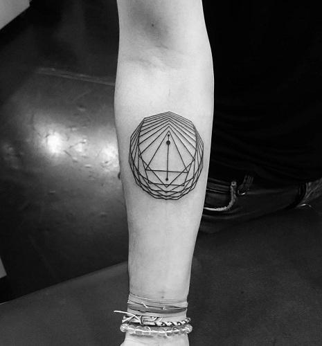 Geometric Line Work Tattoo