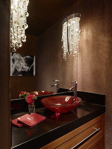 Glam style bathroom decor