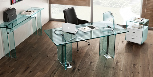 Glass Office Table Design: