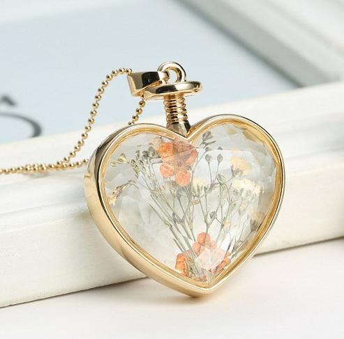 Glass Style Locket Pendant