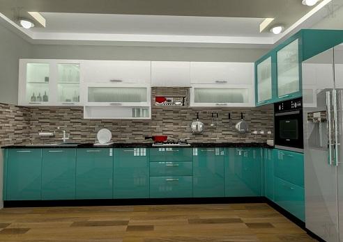 Glossy Interior Modular kitchen