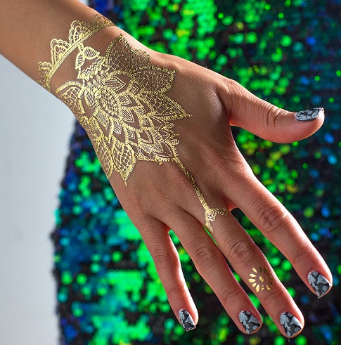Gold Lace Tattoo