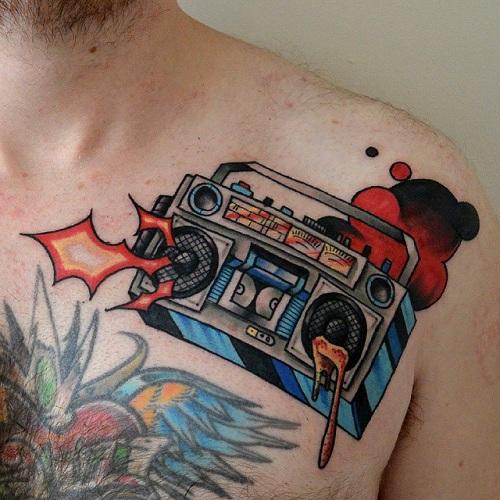 Graffiti Radio Tattoo Design