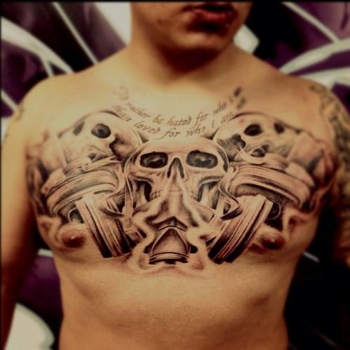 Graffiti Skull Tattoo Design