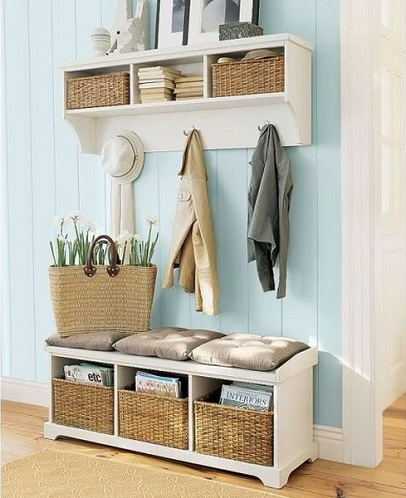 Hallway Shelf with Storage