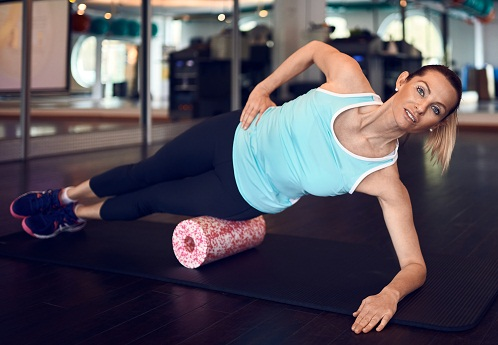 Hip Roll with Foam Rollers