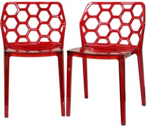 Honeycomb Designer Plastic Dining Chair