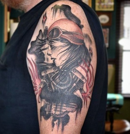 Impressive Biker Tattoo Design