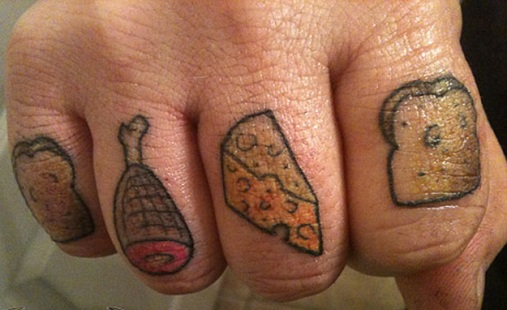 Impressive Food Tattoo Design