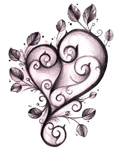 Impressive Gothic Heart Tattoo Design