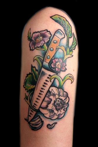Incredible Food Tattoo Design