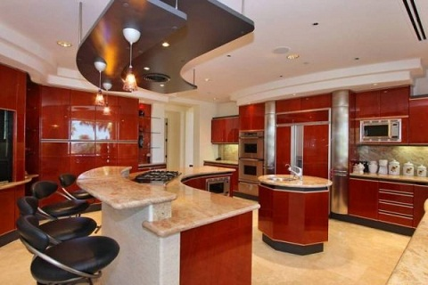 Island luxury kitchen