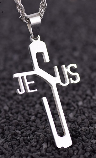 Jesus Charm Cross Locket