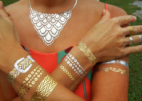 Jewellery Pattern Golden Tattoo